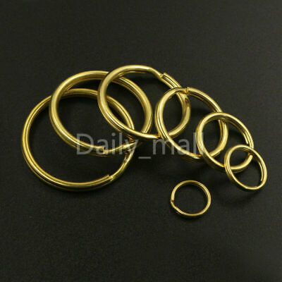 Solid Brass Split Rings Double Loop Key Ring10-38mm Craft Clasp Connect hardware