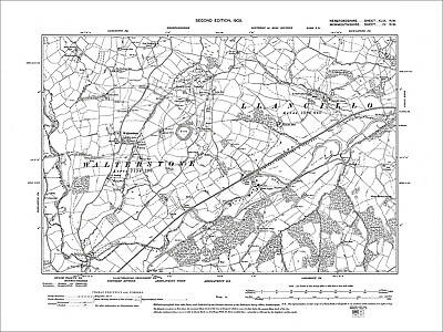 Walterstone, Old Map Herefordshire, 1905: 49NW