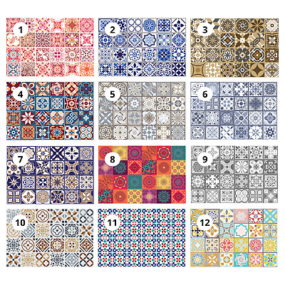 """Mosaic Tile Stickers Decal Kitchen Bathroom Living Stairs Self Adhesive 6"""" & 4"""""""