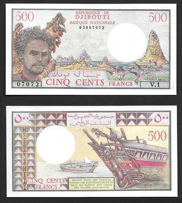 >>Blazing/gem<< 500 Francs >Republic Of Djibouti Banque Nationale< ((Beautiful))