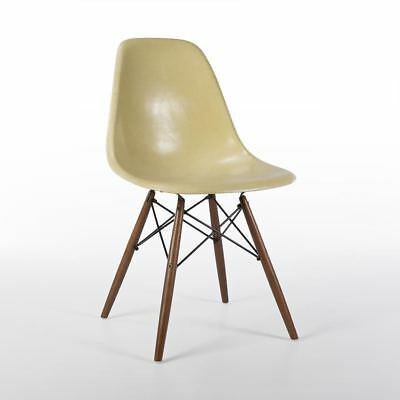 Lemon Yellow Herman Miller Original Vintage Eames DSW Dining Side Shell Chair