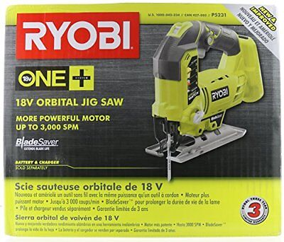 Ryobi  P5231 18-Volt ONE+ Orbital Jig Saw, Upgraded P523 (Tool-Only,New in Box)