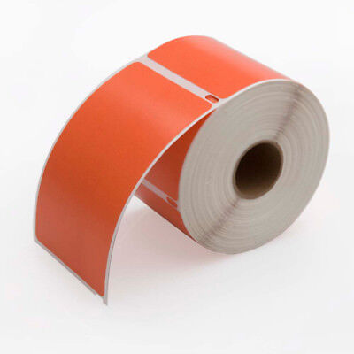 6 Rolls, 300 Labels per Roll DYMO-Compatible 30256 ORANGE Shipping Labels