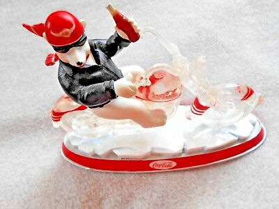 Coca-Cola Cruisers collection Polar bear on motorcycle One Cool Ride #5875B