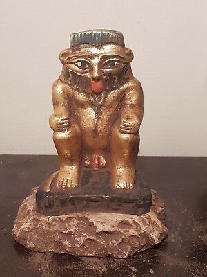 Rare Antique Ancient Egyptian Statue God Bes protecter home women1650-1560BC