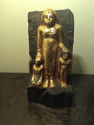 Rare Antique Ancient Egyptian Statue queen Tiye & Akhenaten 1398-1338BC
