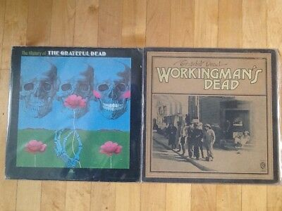Grateful Dead- Lot of 2 LP's, Workingmans Dead & History Of, original and VG+!