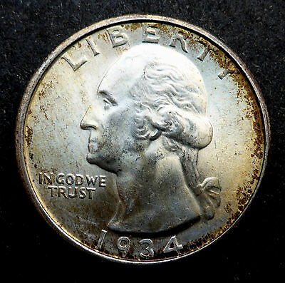 United States 1934 Silver Quarter Nice Coin Higher Grade