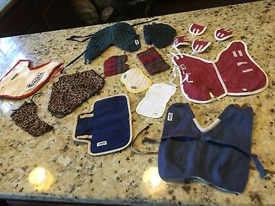 Huge lot of full size BREYER horse blankets and accessories