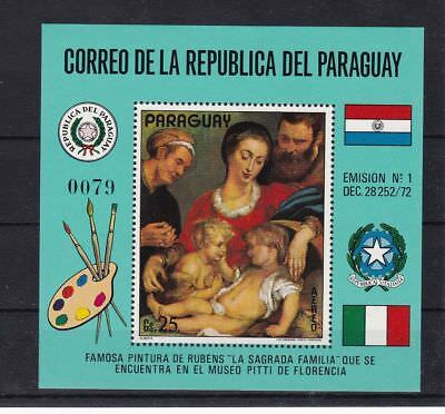 T48086 Paraguay Block 200 postfr./mnh Gemälde paintings  Michel 25 €