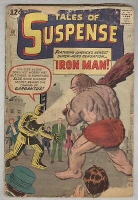 Tales of Suspense #40 April 1963 G- 2nd Ironman