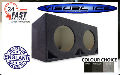 "Best 12"" Inch Double Twin Ported Subwoofer Sub Mdf Box Bass Enclosure Car Audio"