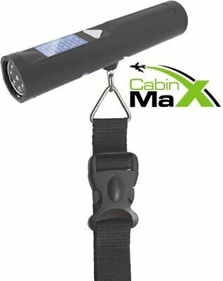 Cabin Max Digital Portable Electronic Travel Hanging Luggage Scale 8 LED Torch