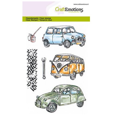 Classic Cars 1 011279 CraftEmotions clearstamps A6