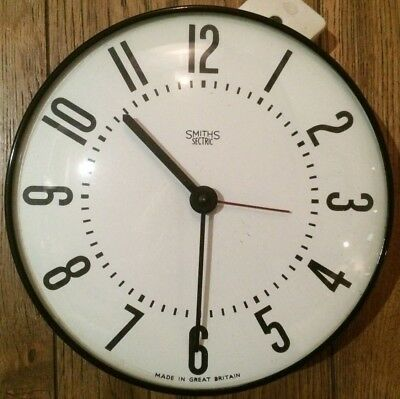 VINTAGE SMITHS SECTRIC 240v WALL CLOCK
