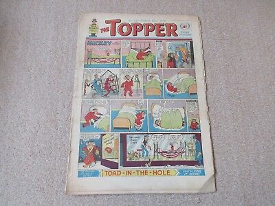 """Topper comic,No 529- March 23rd 1963- - Fair Condition """" Danger all the way"""""""