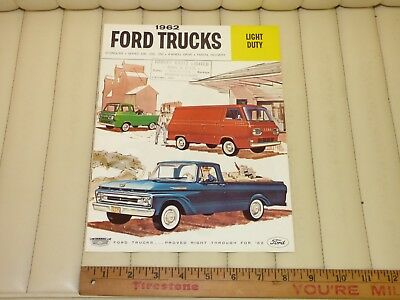 1962 Ford Light Duty Trucks Catalog Sales Brochure CDN
