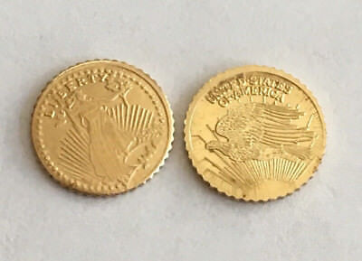 2 Uncirculated Mini St Gauden Coins, Lady Liberty & Gold Double Eagle: Friday pm