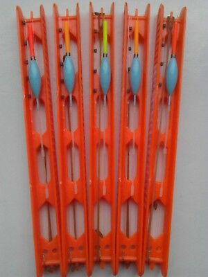 5 Hand made EXTRA STRONG MARGIN carp pole rigs .BAGGING RIGS. VISUAL 2.5MM. TIPS