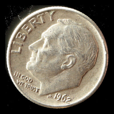 1962-D Roosevelt 90% Silver Dime Ships Free. Buy 3 get xtra AG. NR