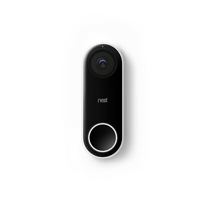 Nest Hello Wi-Fi Video Doorbell - Black/White Model NC5100EF