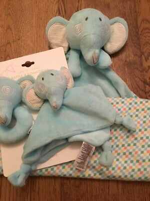 Mothercare Roll Up Roll Up Soft & Fluffy Elephant Blanket., Rattle & Comforter