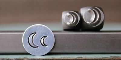 SUPPLY GUY 4mm and 6mm Quarter Moon Metal Punch Design 2 Stamp Set SGCH-203202