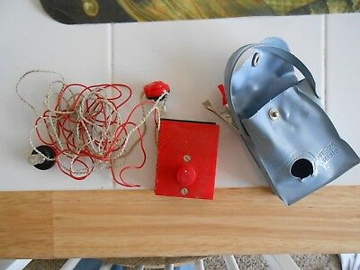 Vintage atomic early Mite-Size crystal radio Japan with earbuds Made for Pollak