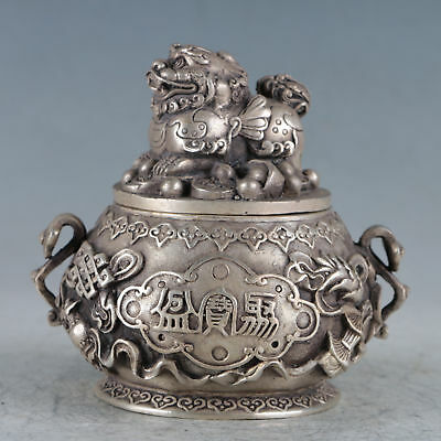 Chinese Silvering Copper Brave Troop Incense Burner Made During The DaMingXuande