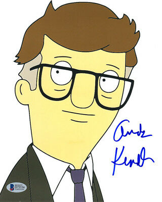 ANDY KINDLER SIGNED AUTOGRAPHED 8x10 PHOTO VOICE MORT BOB'S BURGERS BECKETT BAS