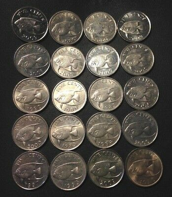 Old Bermuda Coin Lot - 20 Excellent Low Mintage Coins - Lot #M16