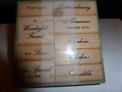 Wooden Rubber Stamp Set Words By Anna Griffin