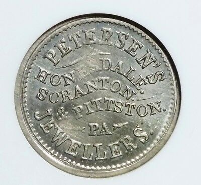 HONESDALE PA..464A-3e  NGC MS64  PETERSEN'S JEWELLERS..RARITY 8