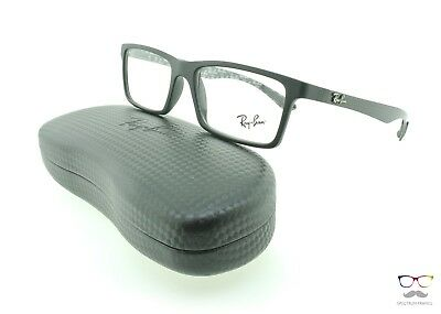 Ray Ban Eyeglasses RB 8901 5263 Black 55mm Rectangular Authentic