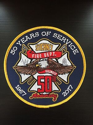 Stickney Fire Department 50th Anniversary Patch Illinois IL