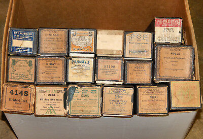Lot of 18 vintage Piano Rolls - Imperial, Pianostyle, Arto, Universal (lot 8)