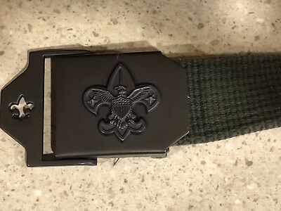 Boy Scout Official Olive Green Web Belt