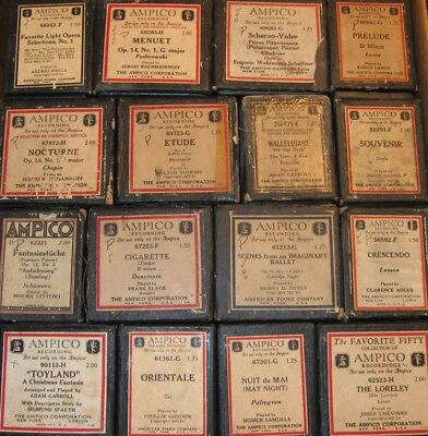 Group Of Ampico Reproducing Piano Rolls Lot 18