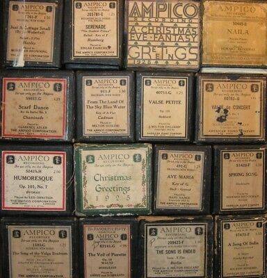 Group Of Ampico Reproducing Piano Rolls Lot 22