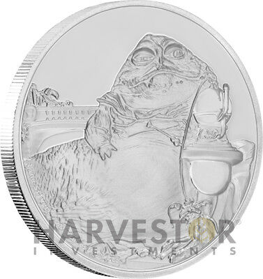 Star Wars Classics: Jabba The Hutt - 1 Oz. Silver Coin - With Ogp Coa - 11Th