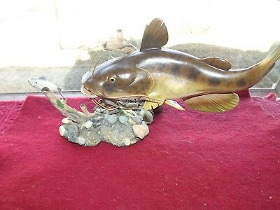 George Kruth 'flathead Hunter' Freshwater Trophies Sculpture Danbury Mint Nos