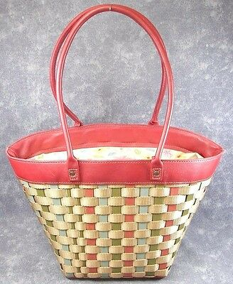 NEW Multi Color Leather Handles TO GO Purse Shoulder Tote Longaberger Easter