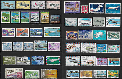 WORLD STAMPS, Themes on Pages, AIRCRAFT, PLANES, HELICOPTERS, used CTO mint