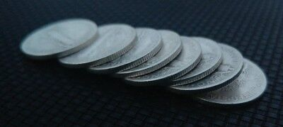 Lot of 8 1945 Mercury Dimes Silver Coins US Currency San Francisco Mint