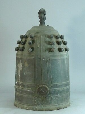 Japanese Antique Bronze Temple Bell 40cm 11kg