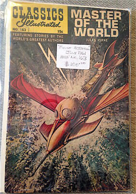 Classics Illustrated #163 Vg   Hrn163  (Master Of The World) Jules Verne