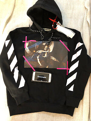 OFF WHITE C O Virgil Abloh Angel Wing hoodie Black Size US Small ... 2eb603c34280