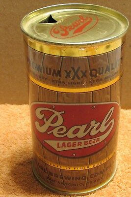 near perfect 1950s Pearl Lager Beer 2-sided FT with Vanity Lid San Antonio Texas