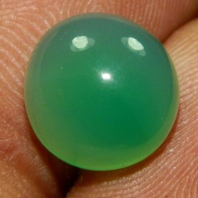 5.95 100% NATURAL Faceted Green Onyx Cabochon Loose Gemstone A362