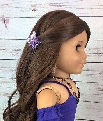 "10-11 Custom Doll Wig fit Blythe-American Girl-1/4 Size Doll ""Walnut Swirl"" bn3"